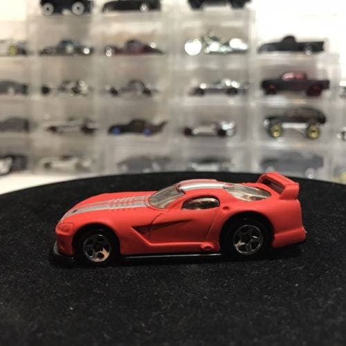 Custom Hot Wheels Dodge Viper Gts-r Custom Flat Red