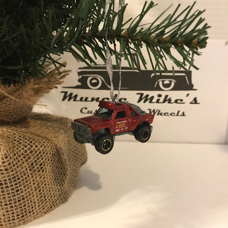 Hot Wheels Christmas Ornament One Custom Matchbox Sonora Shredder offroad tough truck stadium truck Christmas Ornament Free Shipping!