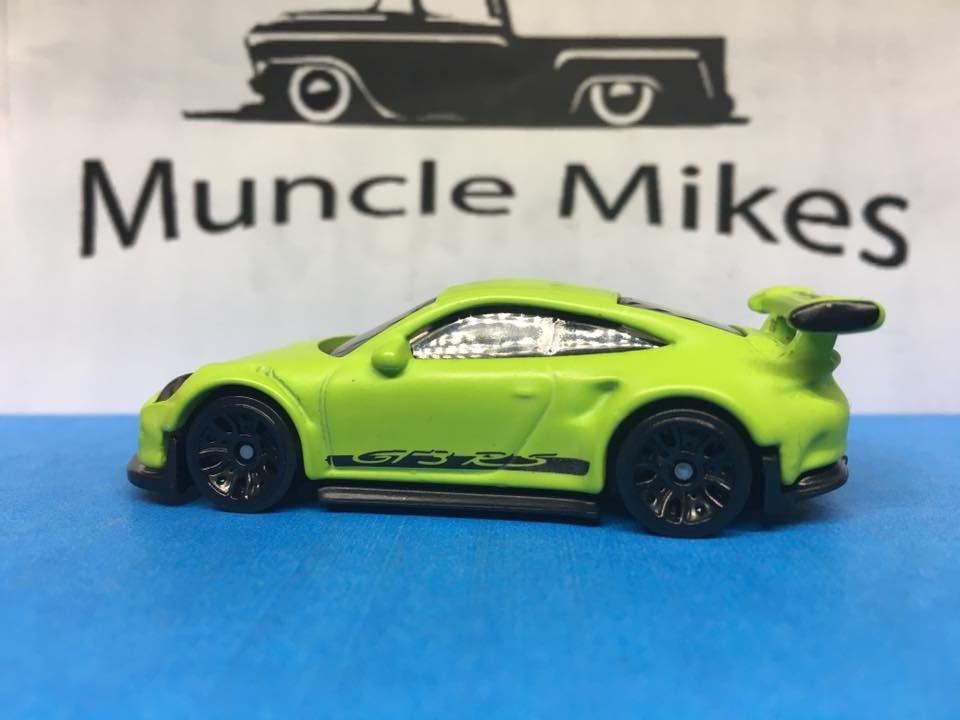 Custom Hot Wheels Porsche 911 Gt3 Rs Factory Factory Satin Flat Lime