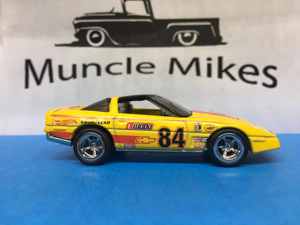 Custom Hot Wheels 1980 Chevy Corvette Race Car Rubber Tires