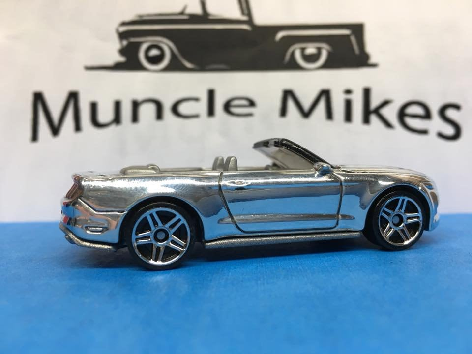 Custom Hot Wheels 2015 Ford Mustang Gt Convertible: POLISHED With Display Case, Cake Topper, Keychain, Zipper Pull, Ornament - Buyer Choice