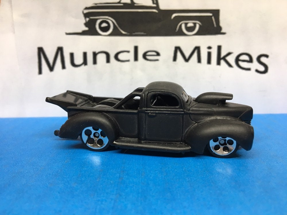 Custom Hot Wheels 40 Ford Truck Flat Black