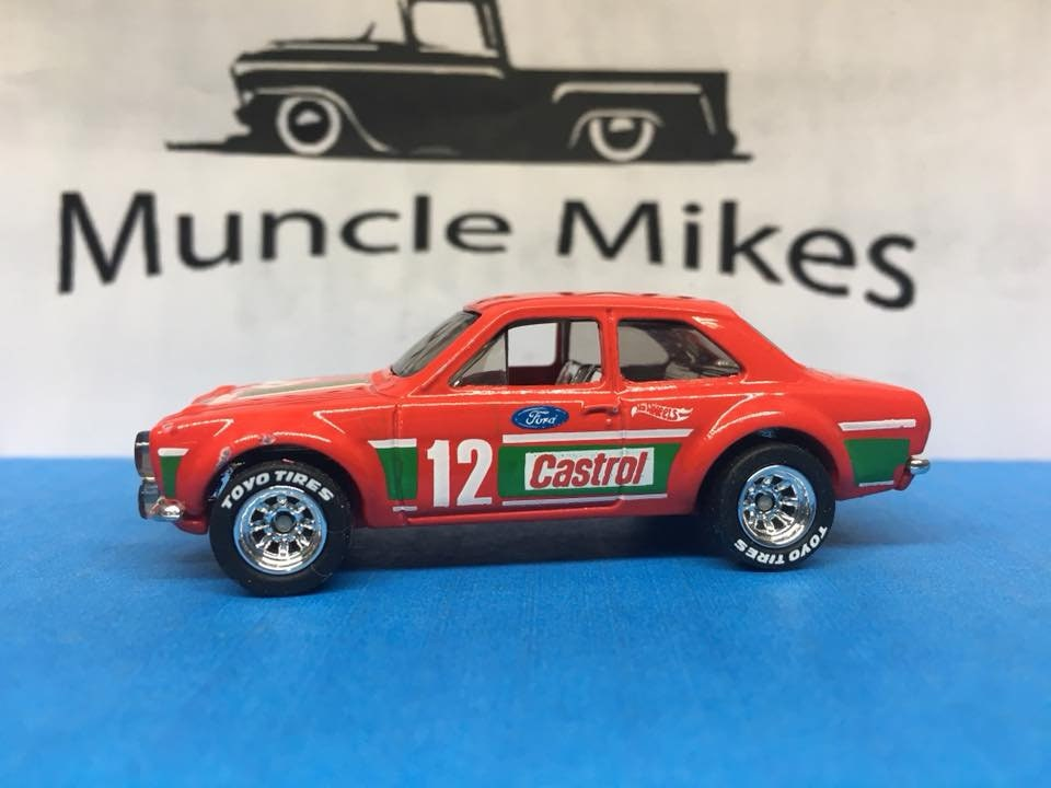 Custom Hot Wheels 70 Ford Escort Rs1600 Rubber Tires Real Rider Style