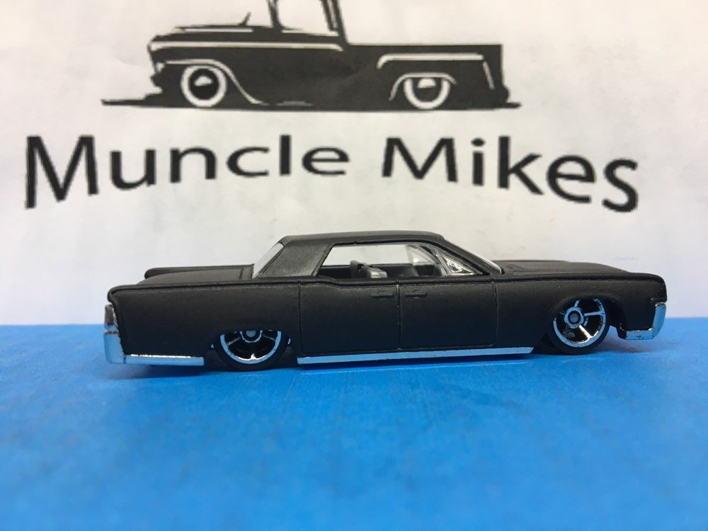 Custom Hot Wheels 64 Lincoln Continental Flat Black