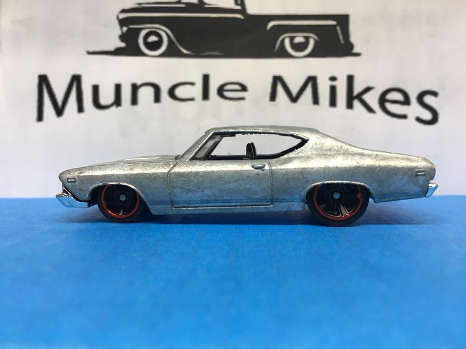 Custom Hot Wheels 69 Chevelle SS 396 Bare Metal