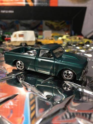 Custom Hot Wheels 67 Chevy C-10 Truck Flat Emerald Green