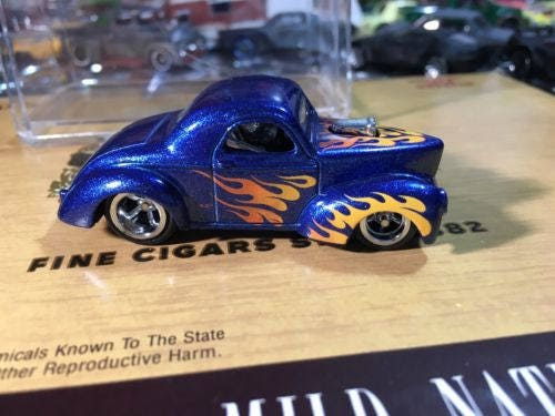 Custom Hot Wheels 41 Willys Rubber Tires Real Rider Style