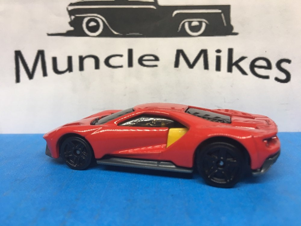 Custom Hot Wheels 17 Ford Gt Race Car Custom Painted RACING RED