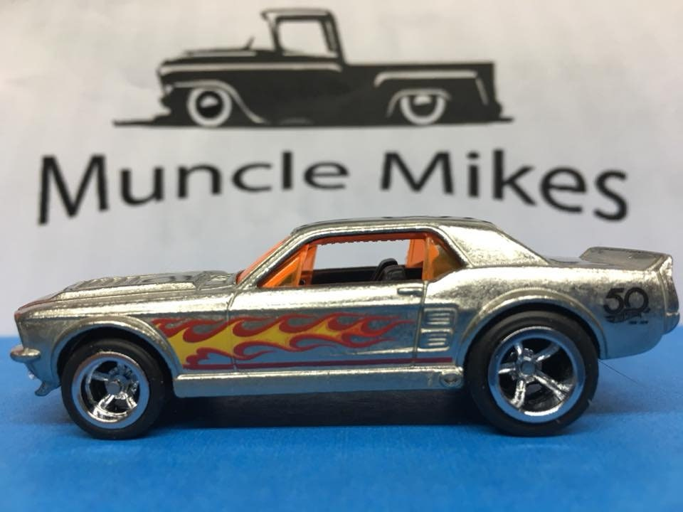 Custom Hot Wheels 67 Ford Mustang GT Zamac Rubber Tires Real Rider Style