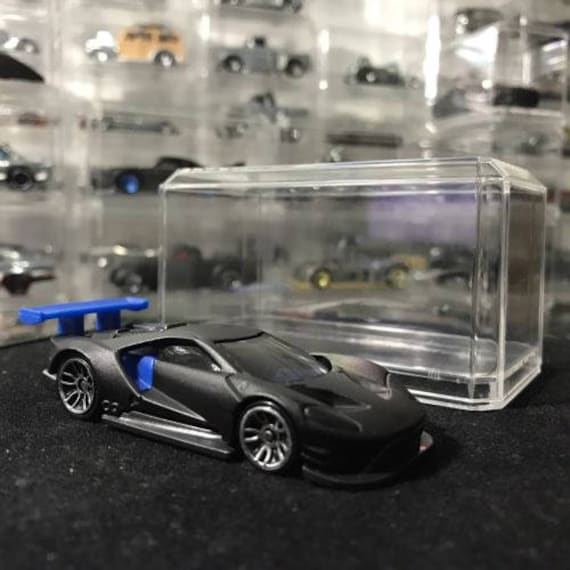 Custom Hot Wheels  Ford Gt Race Flat Black