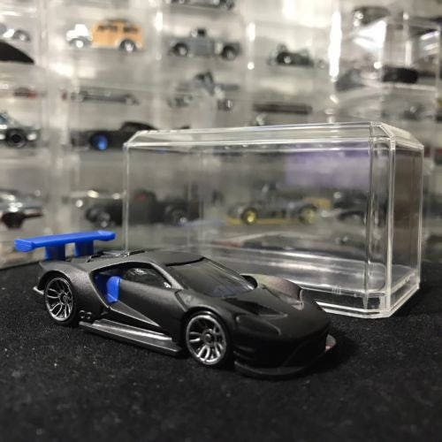 Custom Hot Wheels 2016 Ford Gt Race Flat Black