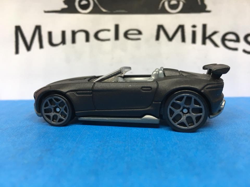 Custom Hot Wheels 15 Jaguar F-type Project 7 Flat Black