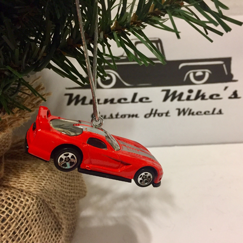 Hot Wheels Christmas Ornament Custom 2001  Dodge Viper GTS-R  or keychain