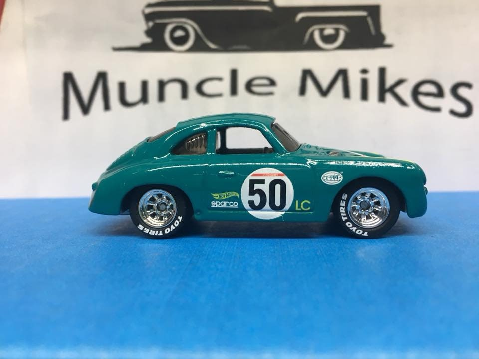Custom Hot Wheels Porsche 356a Outlaw Rubber Tires Real Rider Style