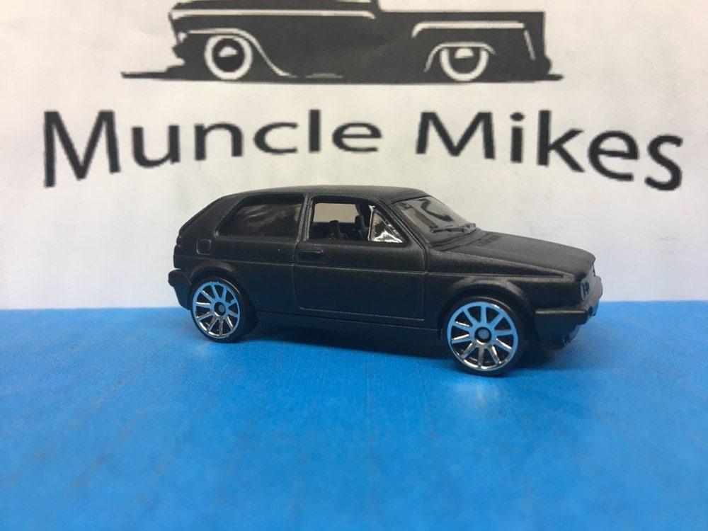 Hot Wheels VW Volkswagen MK2 Custom Painted Flat Black