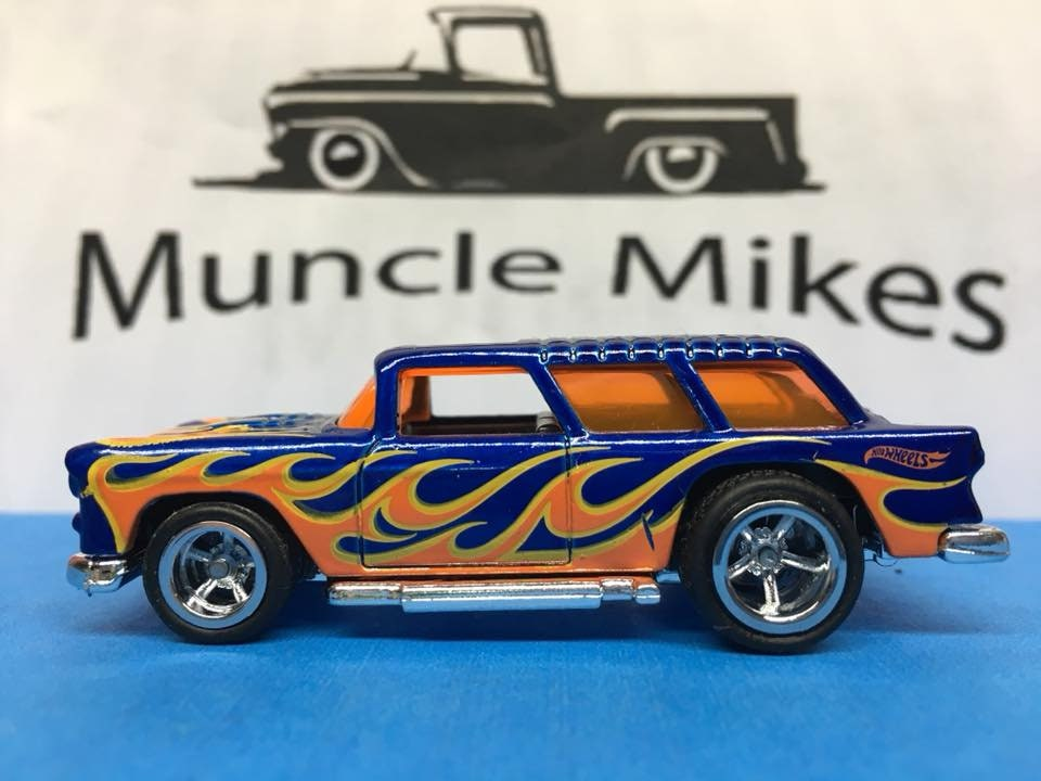 Custom Hot Wheels Chevy Nomad Rubber Tires Real Rider Style