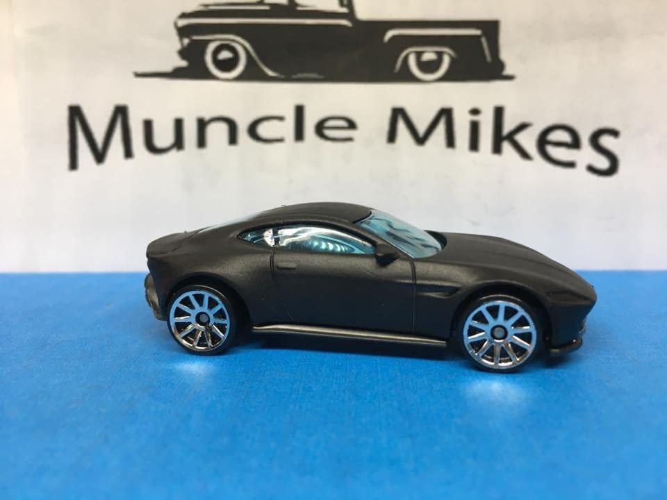 Custom Hot Wheels 007 Aston Martin Db10 Flat Black Free Shipping!