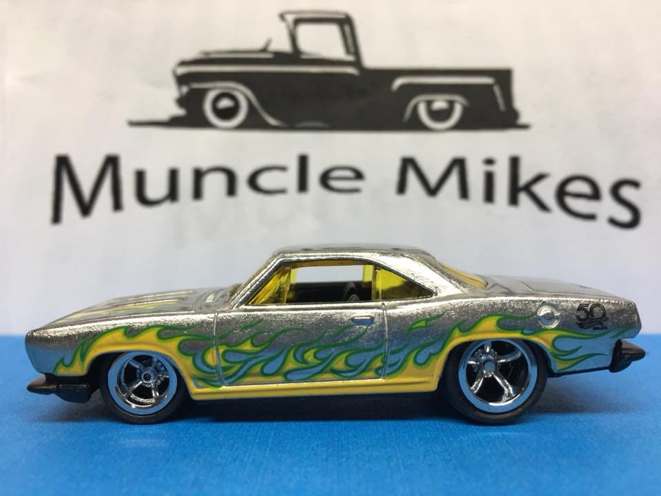 Custom Hot Wheels 68 Plymouth Barracuda Formula S Rubber Tires Real Rider Style