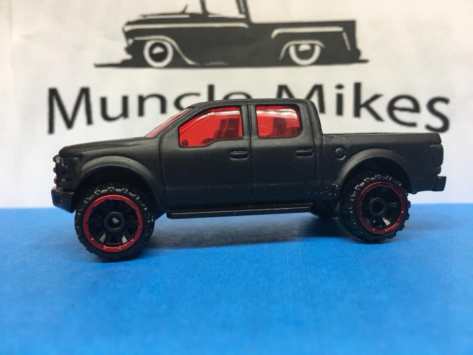 Custom Hot Wheels 2015 15 Ford F150 Flat Black (RW)