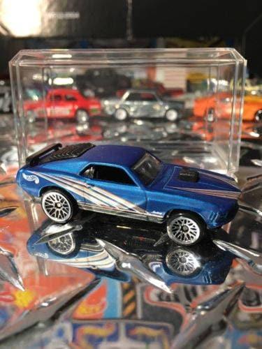 Custom Hot Wheels Mustang Mach 1 Factory Satin FLAT BLUE