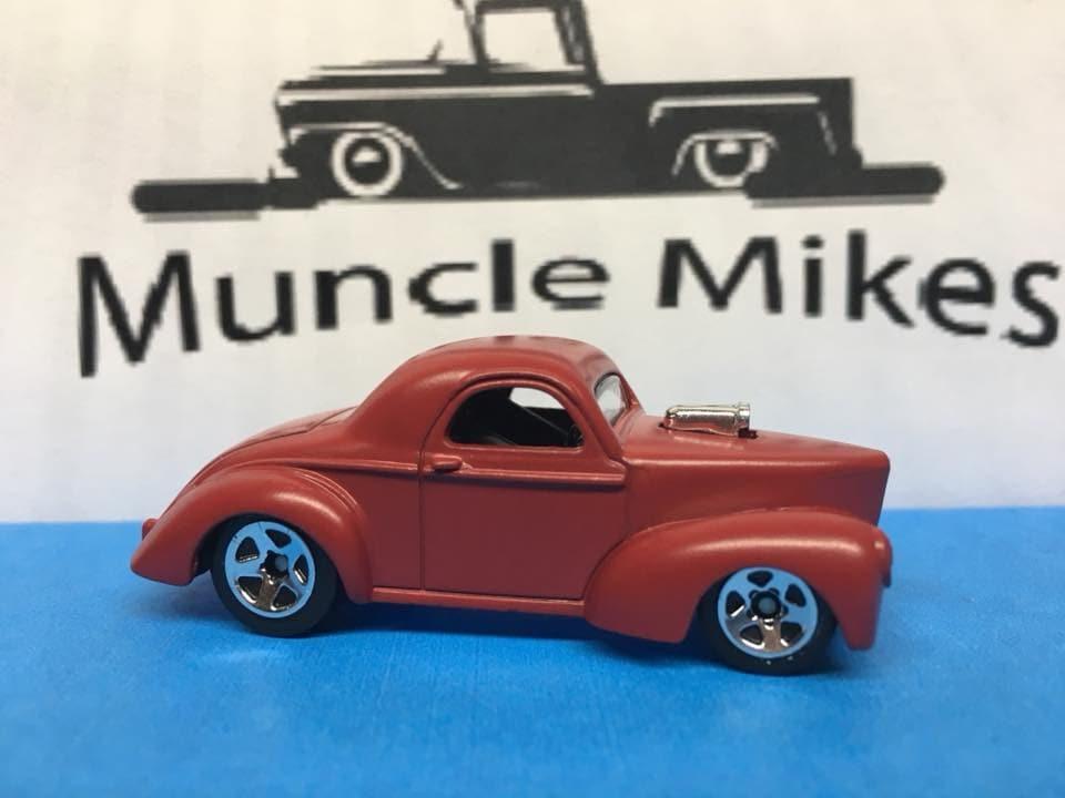 Custom Hot Wheels 41 Willys Flat Red