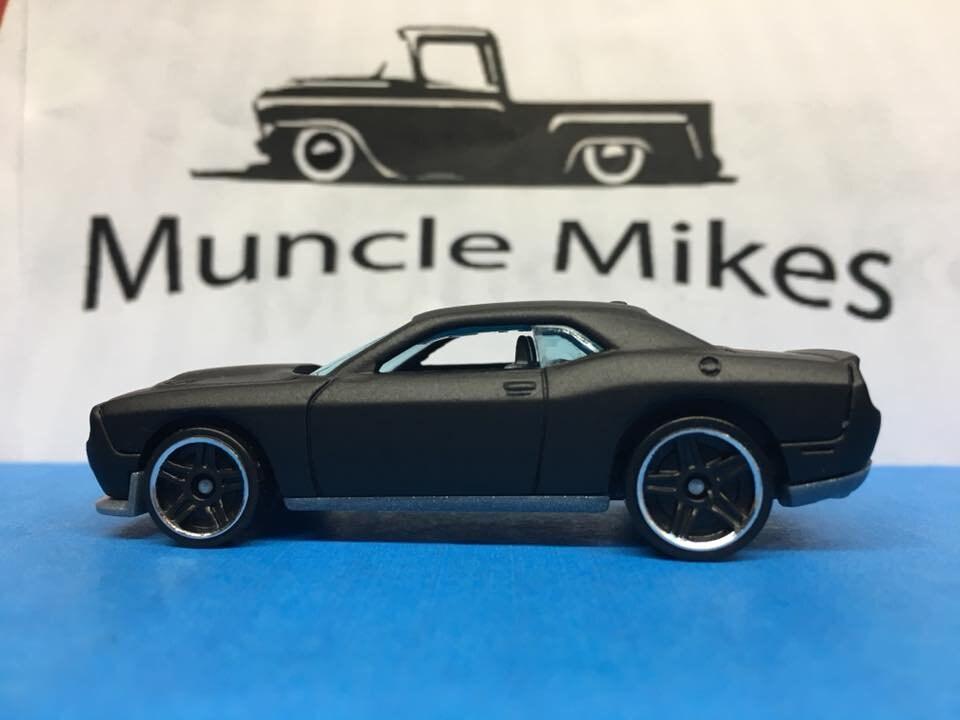 Custom Hot Wheels 15 Dodge Challenger SRT Flat Black