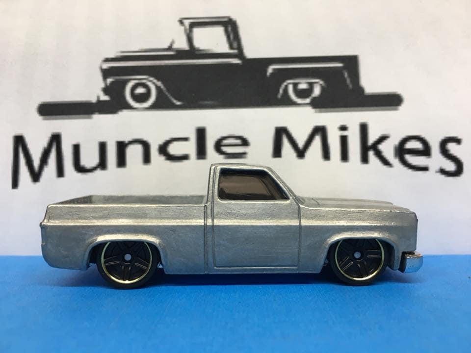 Custom Hot Wheels 83 Chevy Silverado Bare Metal