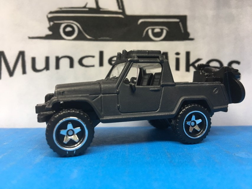 Custom Hot Wheels: 1967 Jeep Jeepster Commando Custom Painted FLAT BLACK