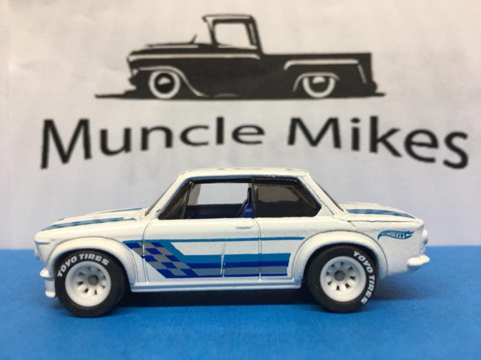 Custom Hot Wheels BMW 2002 Rubber Tires Real Rider Style