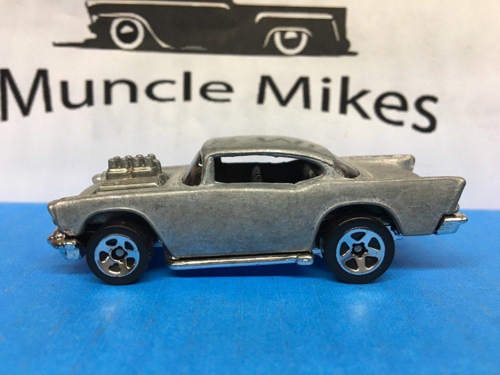 Custom Hot Wheels 57 Chevy Belair BARE METAL