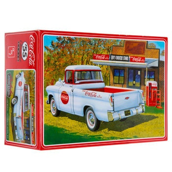 Collectible Plastic Model Kit: 1955 Chevrolet Cameo Pickup Coca-Cola Model Kit