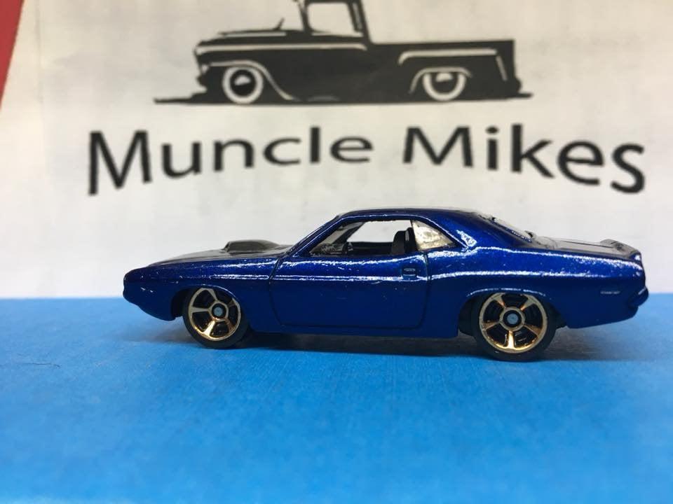 Custom Hot Wheels 70 Challenger Custom Painted Royal Blue