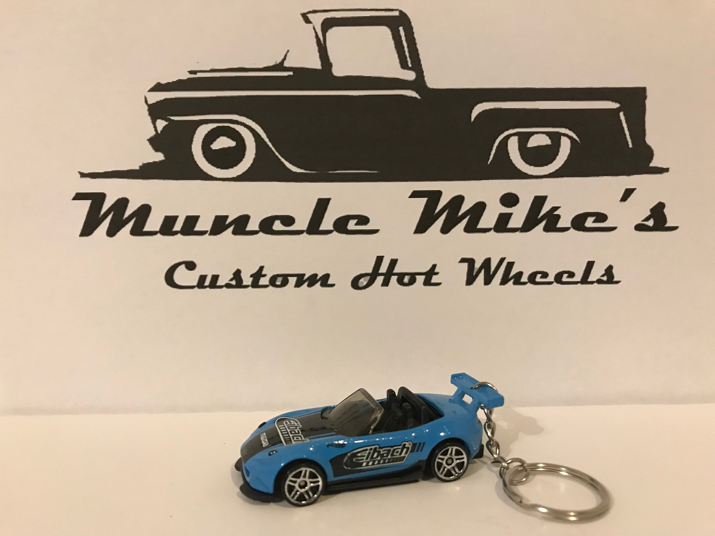 Custom Hot Wheels 2015 blue Eibach Mazda Miata MX-5 Christmas Ornament,  Keychain or Zipper Pull