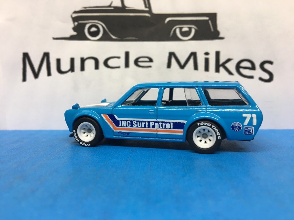 Custom Hot Wheels 1971 Datsun Bluebird 510 Wagon Rubber Tires Real Rider Style Free Shipping!