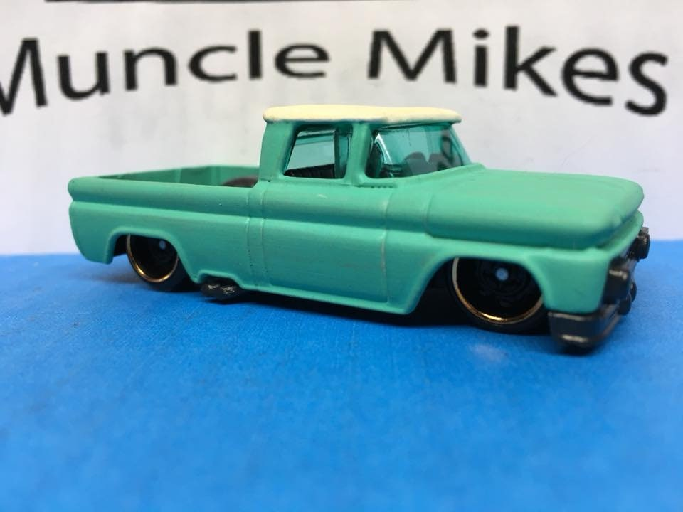 Custom Hot Wheels 1962 Chevy Two Tone Satin
