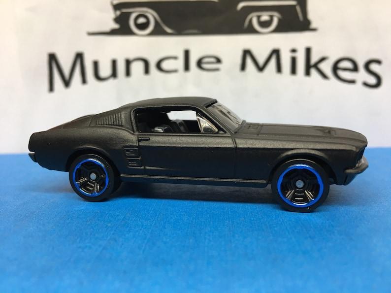 Custom Hot Wheels 1967 Mustang Fastback Eleanor Flat Black Etsy