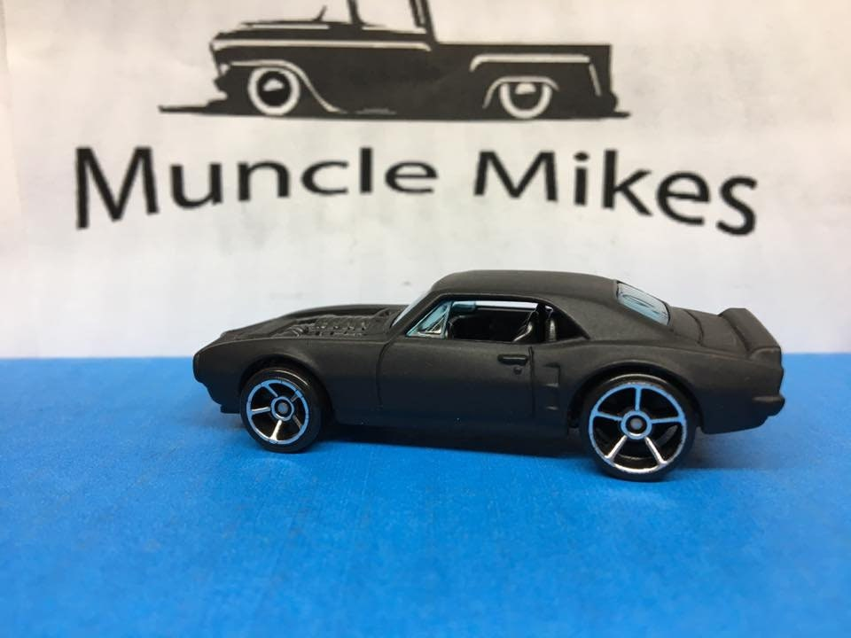 Custom Hot Wheels 67 Pontiac Firebird Flat Black