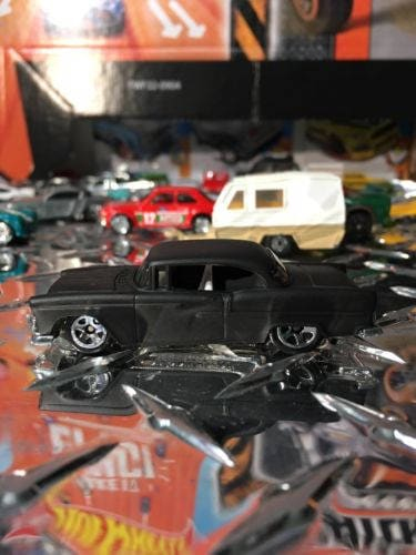 Hot Wheels 1955 Chevy Flat Black