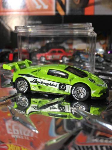 Custom Hot Wheels Lamborghini Huracan Lp 620-2 Super Trofeo Rubber Tires Real Rider Style Green