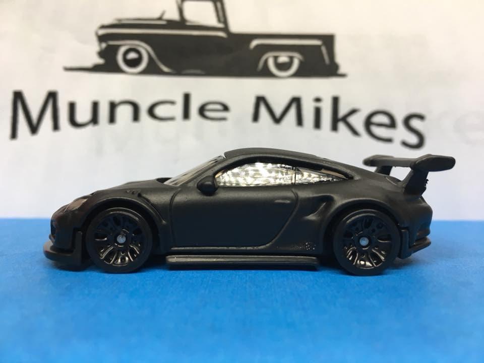 Custom Hot Wheels Porsche 911 Gt3 Rs Flat Black