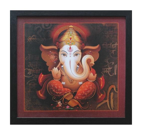 Handcrafted Photo Frame of Hindu God - Ganesha