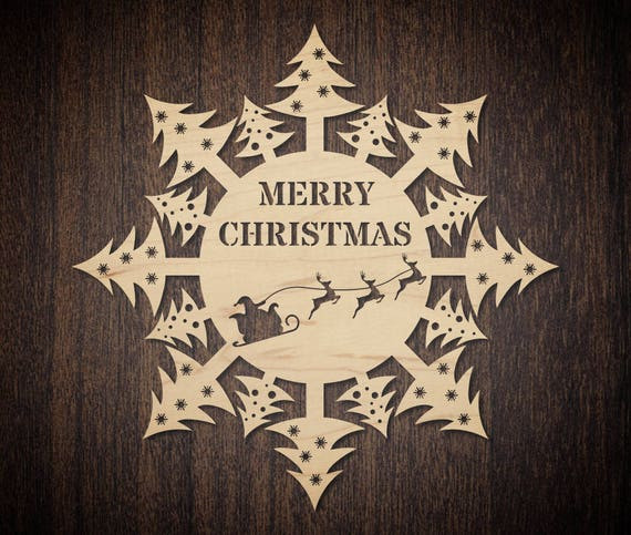 christmas door hanging template for laser cutting santa etsy