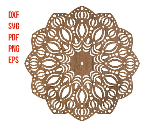 mandala clock design for laser cutting mandala stencil etsy
