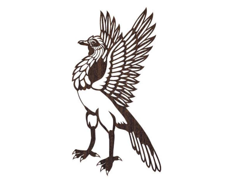 Ptak Szablon Laser Wzór Orzeł Wektor Cricut Wzór Otwórz Plik Etsy