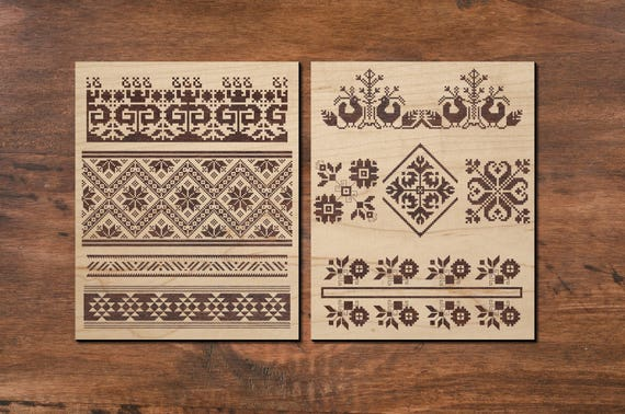 Ethnic Ribbon Pattern for Laser Etching Eastern European | Etsy