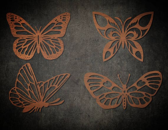 Laser Cut Butterfly Wall Hanging Template Cut Out Wood Cnc Etsy