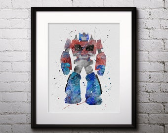 Robot Painting Etsy