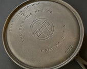 Griswold Large Block Logo 8 Round Griddle 609 Vintage Cast Iron Made in USA Restored Zero Wobble or Spin