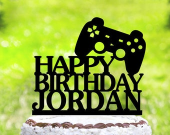 Awesome Video Game Cake Etsy Birthday Cards Printable Trancafe Filternl