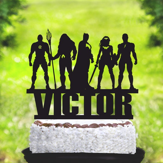 Justice League Cake TopperAquaman TopperSuperman